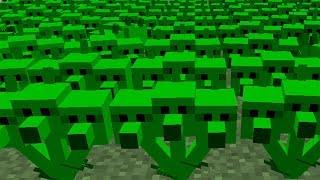 Plants vs. Zombies 2 Minecraft Mod - Threepeater vs Zombies!
