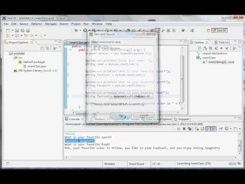 Java Programming - 5 - User input methods