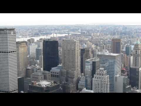 Lower Manhattan, viewed from Rockefeller Center - October 2011