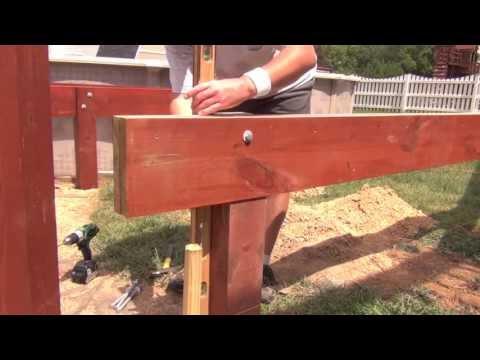 Pool Deck Building: Setting Beams