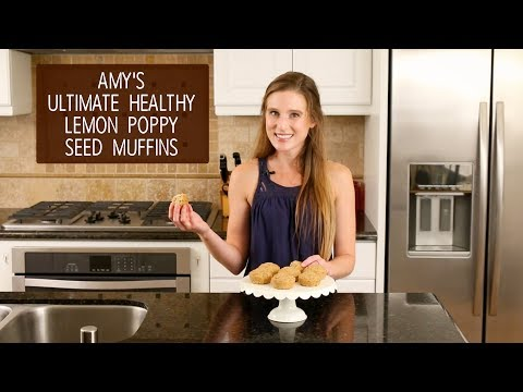 The Ultimate Healthy Lemon Poppyseed Muffins | Amy's Healthy Baking