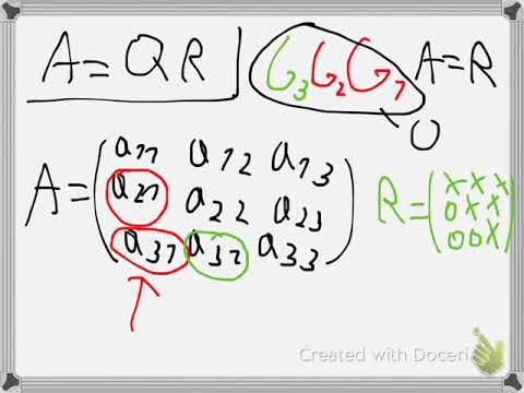 Givens rotation for QR factorization