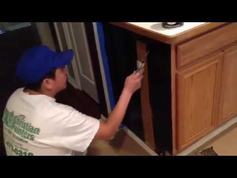 Gel Stain Glazing Kitchen Cabinet Dark Walnut Cost Effective