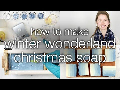 How to Make Winter Wonderland Christmas Soap