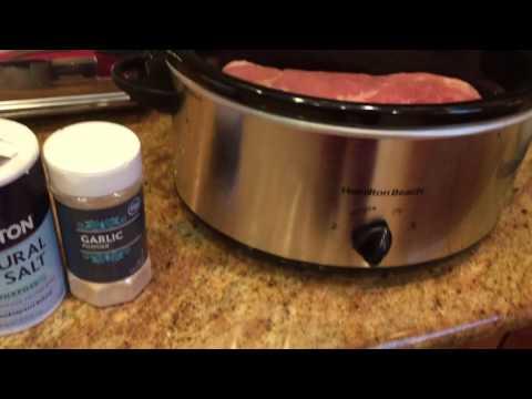 Slow Cooker Crock Pot Balsamic Pork Loin Recipe