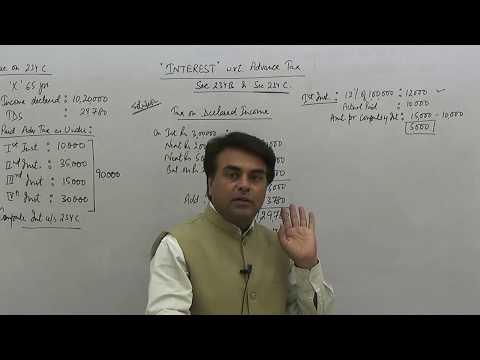 Interest on Advance Tax Sec 234C  Que 4