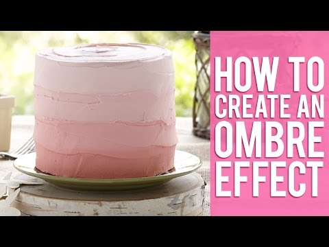 Create an Ombre Effect with Buttercream