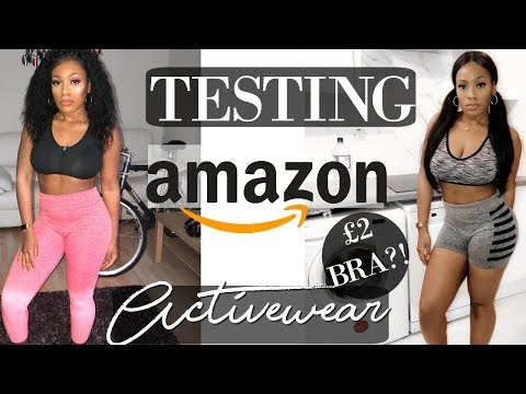 TESTING CHEAP AMAZON GYMSHARK DUPE ACTIVEWEAR! GYMSHARK DUPE LEGGINGS   GYM TRY ON