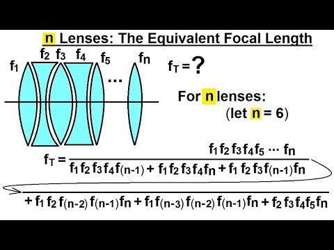Physics: Optics- Multiple Lenses (10 of 12) n Lenses: The Equilvalent Focal Length
