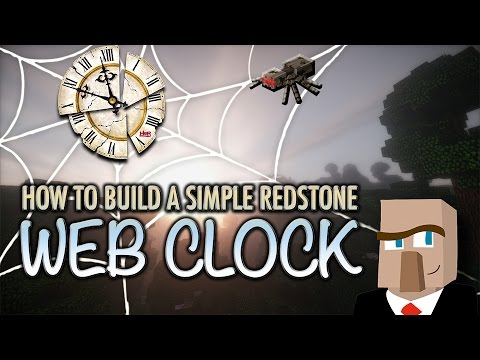 MINECRAFT WEB CLOCK: Make This Unique Redstone Circuit Quickly and Easily