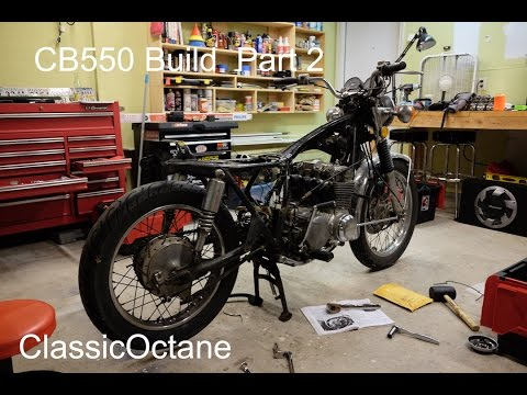 How to build a CB550 Cafe Racer / Brat : Part 2