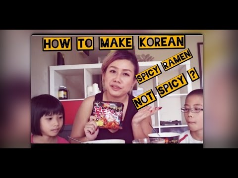 How to make Korean Spicy Ramen not Spicy?   Korean Spicy Ramen Challenge