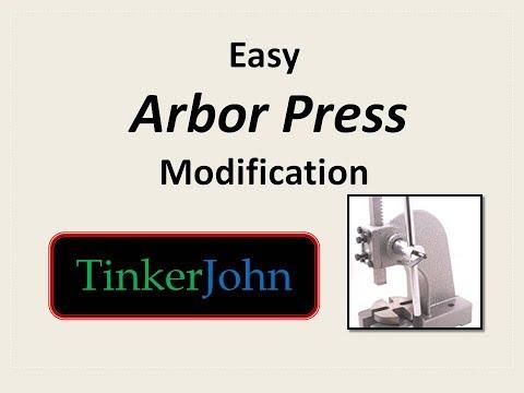 Easy Arbor Press Modification