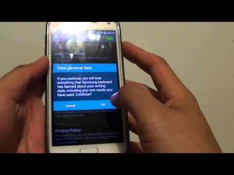 Samsung Galaxy S5: How to Clear All Predictive Text Dictionary at Once