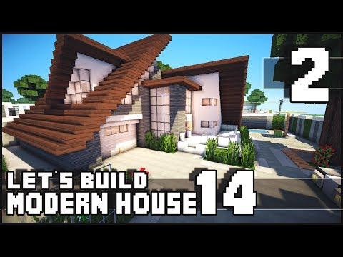 Minecraft Lets Build: Modern House 14 - Part 2
