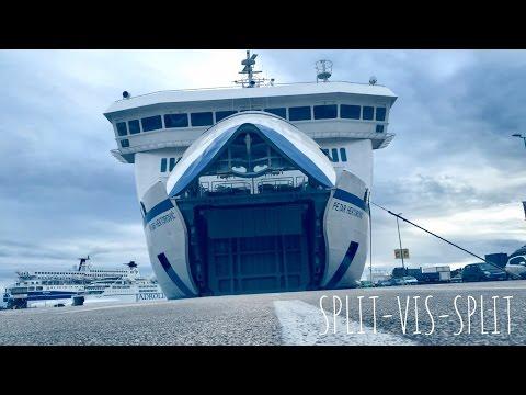 Split Croatia I Ferry Boat trip to Island Vis with Petar Hektorovic