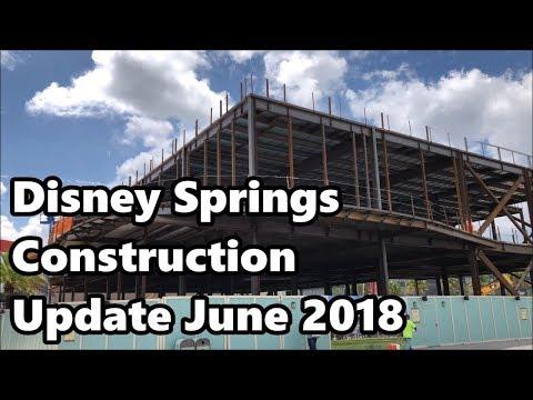 Disney Springs Construction Update - June 2018 | 4K 60fps