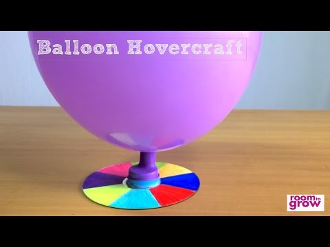 How to make a Balloon Hovercraft | Easy Crafts for kids.
