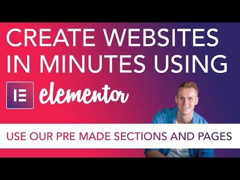 Make Websites In Minutes Using Elementor