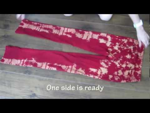 DIY tie dye jeans tutorial
