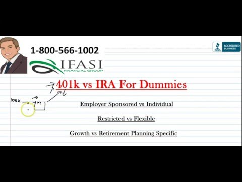 401k vs IRA - 401k vs IRA for Dummies