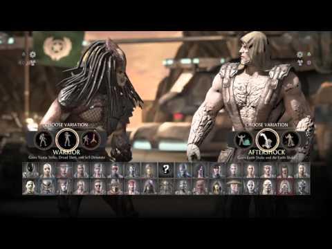 Mortal Kombat XL Character Select Screen w/Variations (+ Kombat Pack 2)
