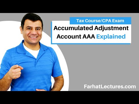 Accumulated Adjustment Account AAA | Corporate Income Tax | CPA REG | Ch 22 P 3