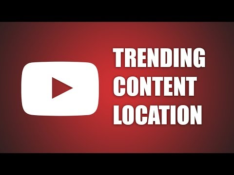 How to change Trending Content Country on Youtube