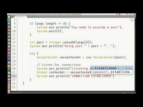 Making a Java Server (live code)