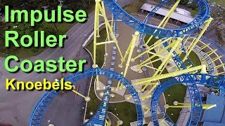 Impulse Roller Coaster Front Seat On Ride GoPro HD POV Knoebels