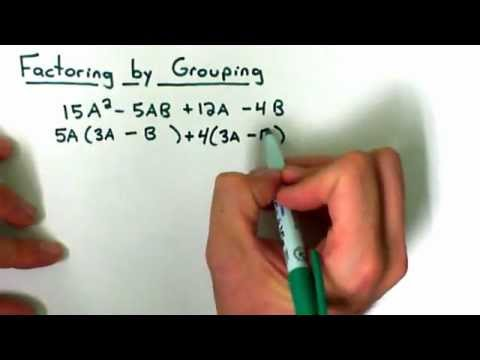 Factoring a Polynomial by Grouping
