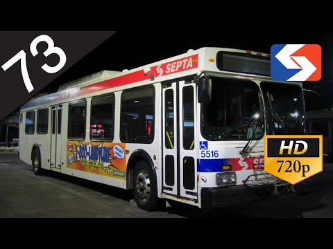 SEPTA Ride: 2002 New Flyer D40LF #5516 on route 73 to Richmond-Westmoreland