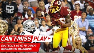 Kirk Cousins to Josh Doctson for a Leaping 52-Yd TD Grab! | Can