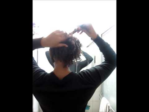 Straight Back Flat Twist Out - Second Attempt - Curl Prep Sweet Buttah