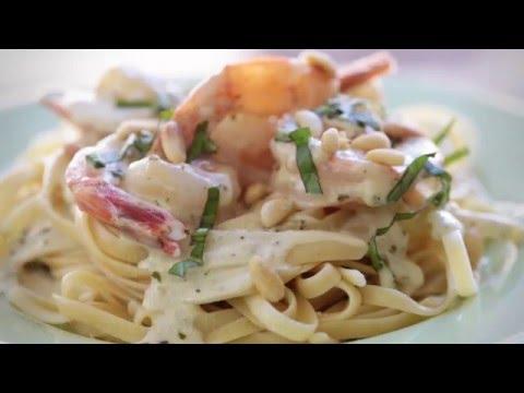 How to Make Creamy Pesto Shrimp | Shrimp Recipes | Allrecipes.com