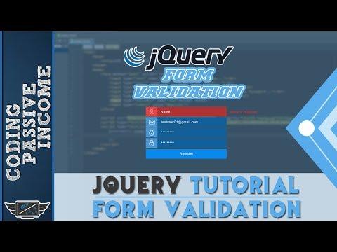 jQuery Tutorial: Form Validation