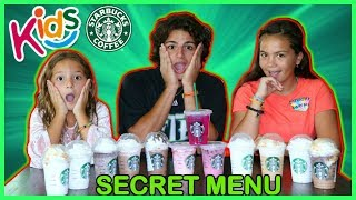 TASTE TESTING STARBUCKS SECRET MENU | SISTER FOREVER