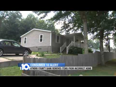 Douchebags First National Bank of Wellston repossessed wrong house now won't pay