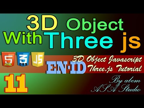 3D Object With Three Js, 11, Import 3D Object and Material with JSON, Javascript Tutorial