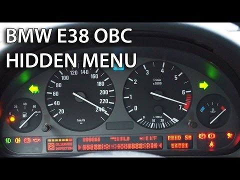 How to unlock hidden menu in BMW E38 & Range Rover OBC (on-board computer service mode)