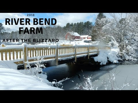 River Bend Farm after the March 13, 2018 Blizzard ~ Massachusetts Snowfall