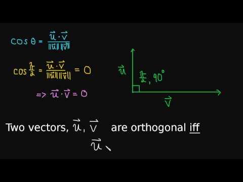 1.3 Orthogonal Vectors