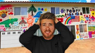 We Graffitied his Entire House PRANK! *HE WAS ON HIS HONEYMOON*