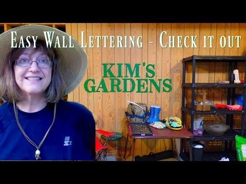 Kim's Garden Shop - Easy Wall Decor - Letters!