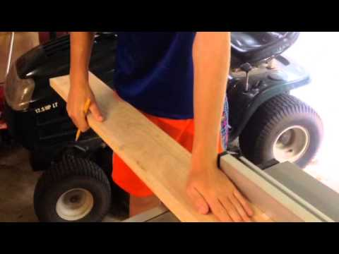 How to make a wooden lacrosse stick