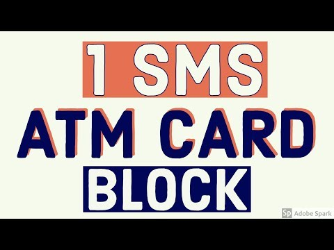 Block  ATM Card By Sending SMS ..!!