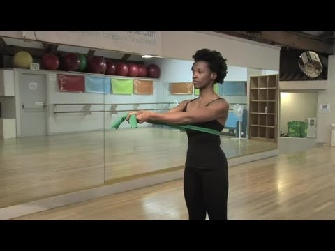 Breast Lifting Exercises With a Resistance Band : Women's Way to Fitness