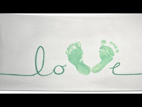 Love Footprint Platter