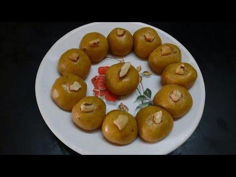Tasty and Easy Besan Laddu Preparation in Telugu (బేసన్ లడ్డూలు)