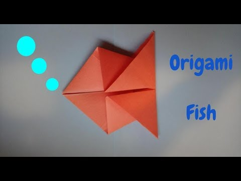 How to Make an Origami Fish   Origami Step by Step Tutorial